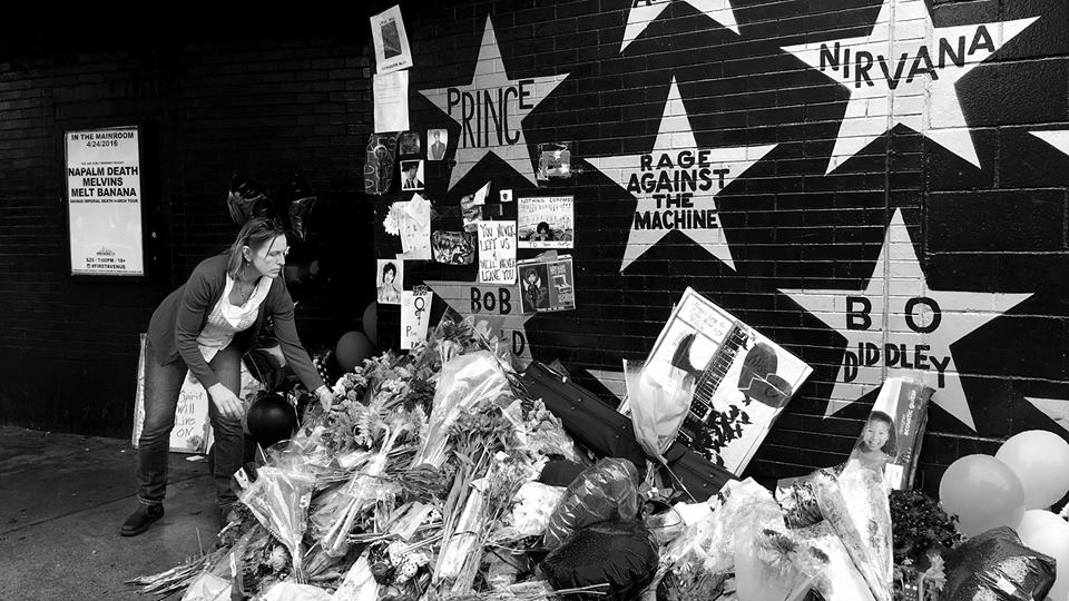 Tribute outside First Avenue